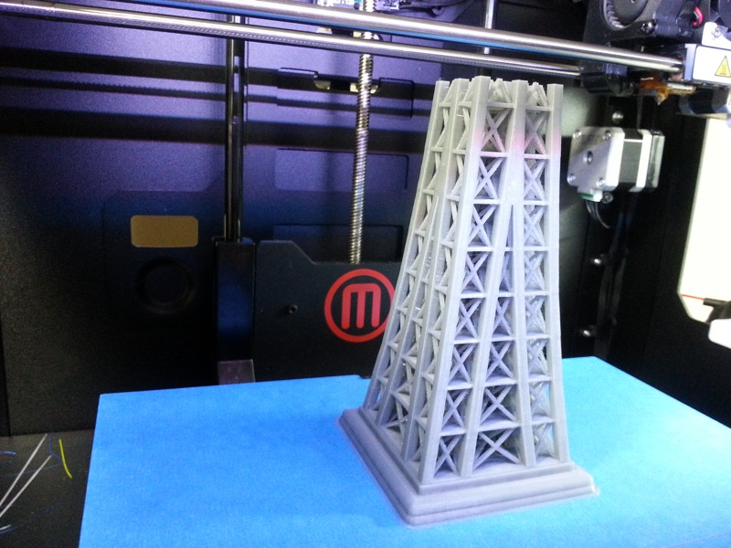 Upper 3D Printed Section