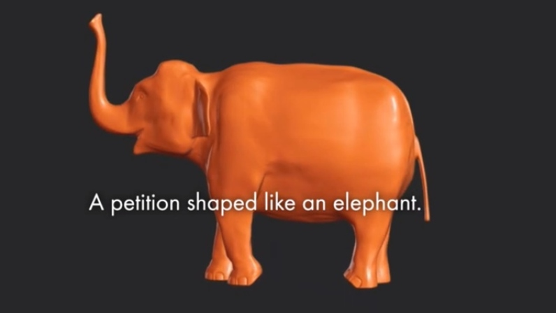 A 3D Printed Elephant By The World Animal Protection Organization