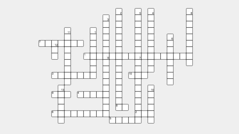 3D Printing Crossword Puzzle