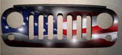 custom designed jeep grill
