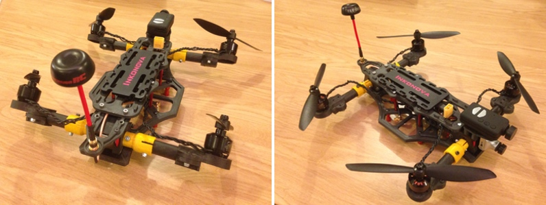 Quadcopter with tilting arms