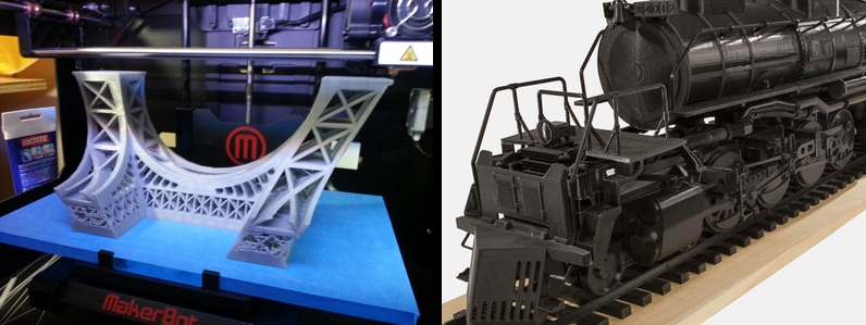 Complex 3D prints take many hours