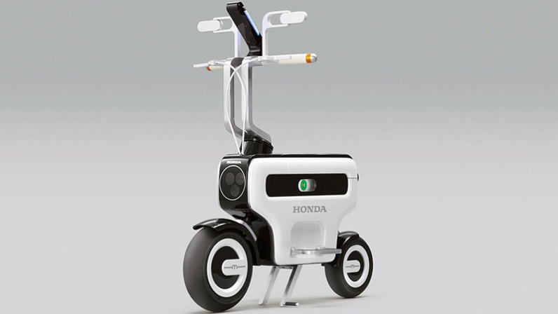 Honda's Little Fold Up Scooter As Exhibited At the Tokyo Motor Show in 2011.
